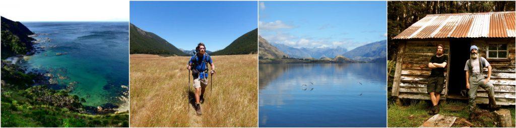 Hiking through New Zealand, stunning lakes, expedition photos