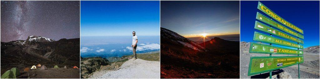 Stars at night in Tanzania, hiking Kilimanjaro, sunrise in Africa