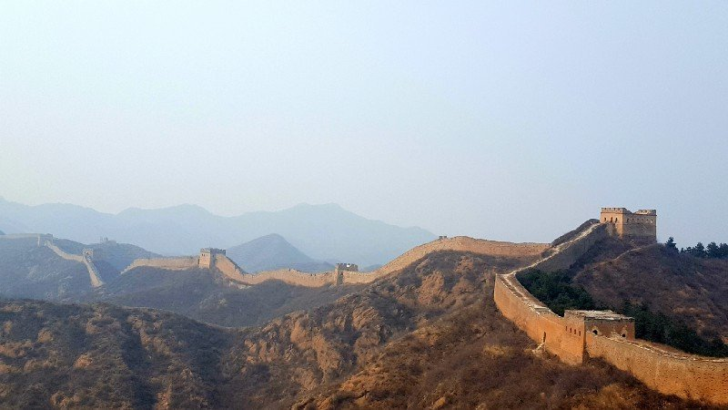 Travelling solo in China. The Great Wall at Jinshanling.