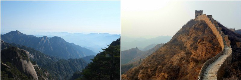 Travelling solo in China. Mount Huangshan — The Great Wall at Jinshanling.