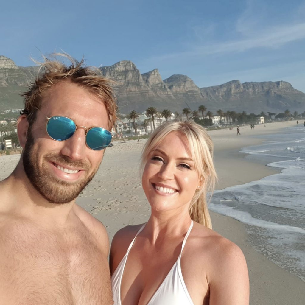 Chris Robshaw and Camilla Kerslake South Africa honeymoon