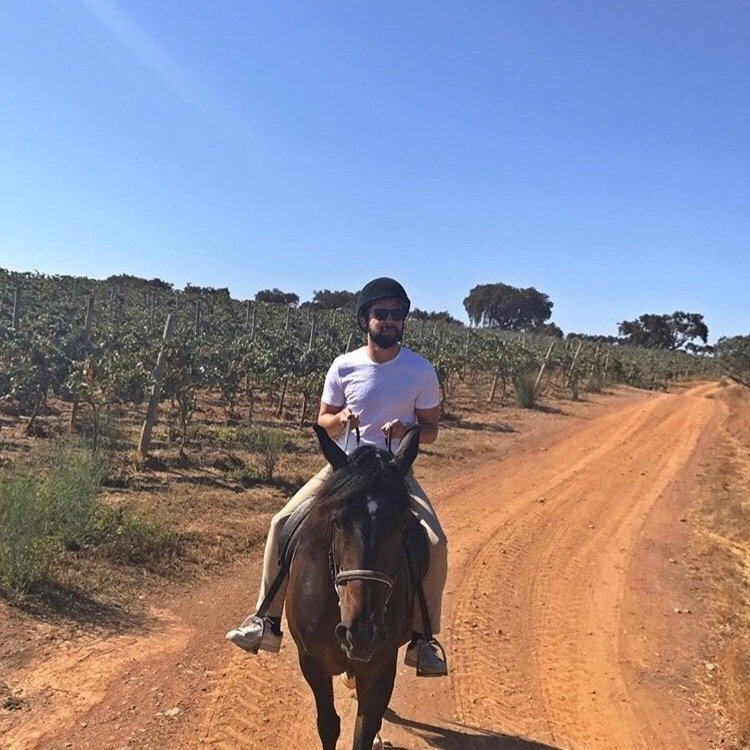 Bobby horse-riding Portugal