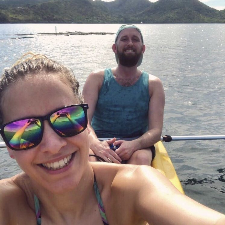 Patrick and Charlie Philippines kayaking
