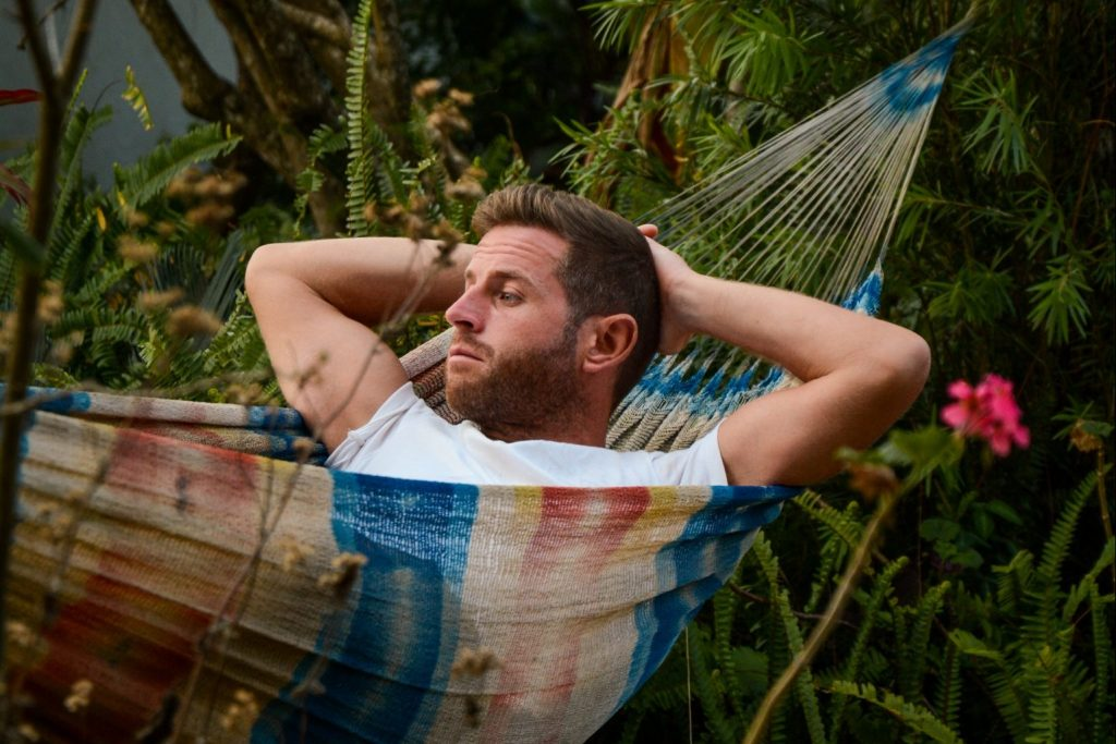 Scott in a hammock in Zomba