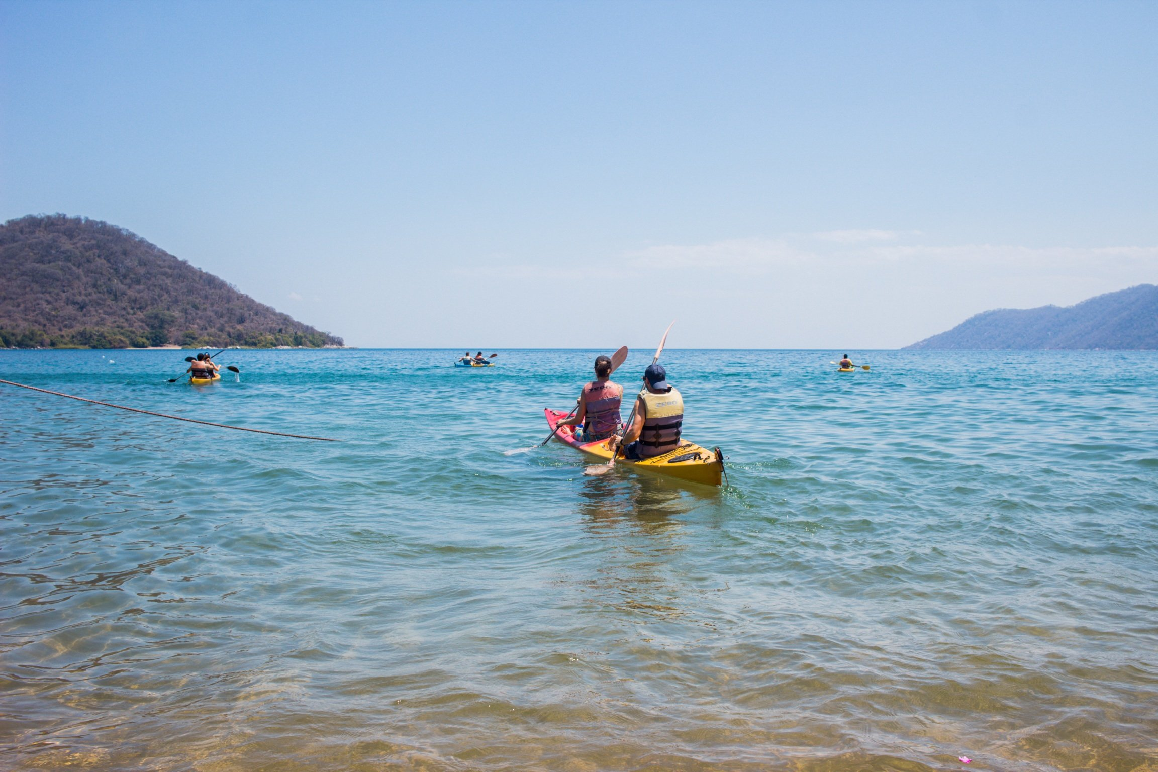 Kayaking in Cape Maclear