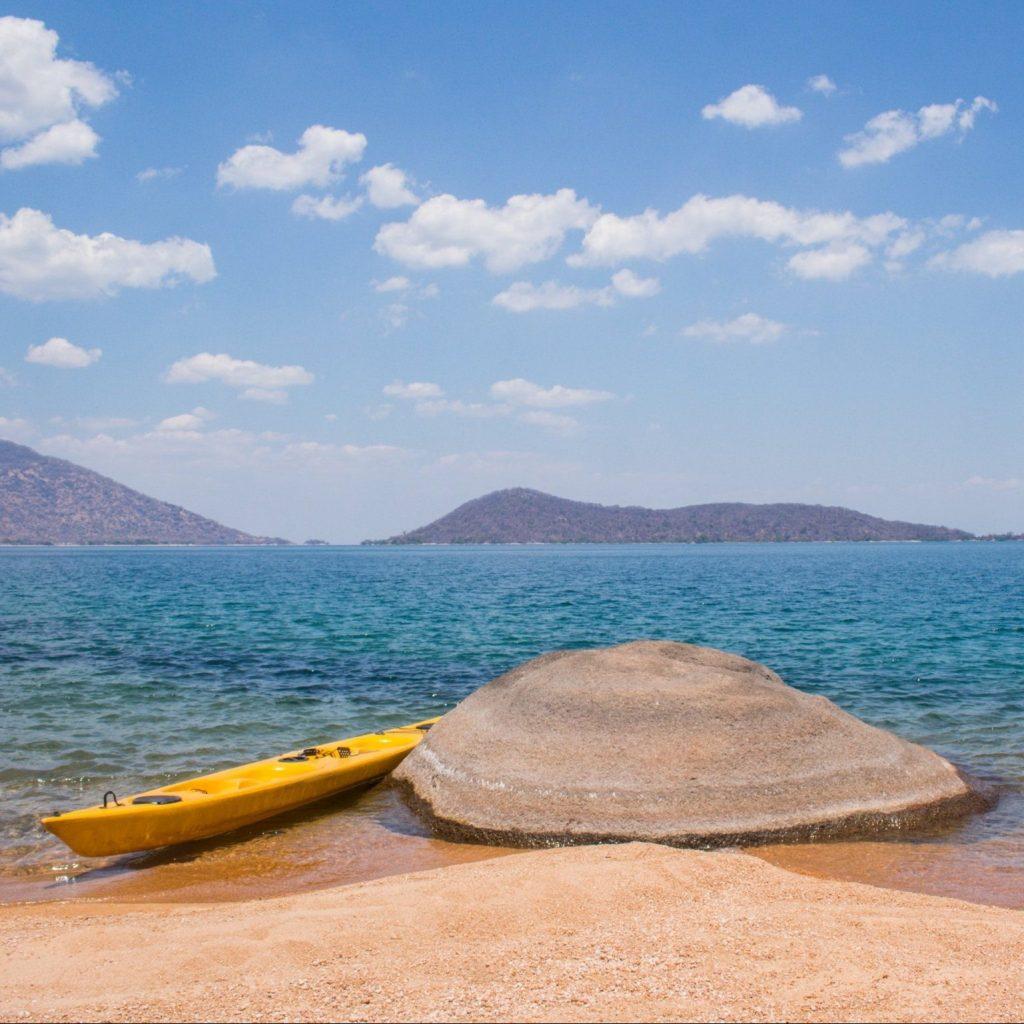 Kayaks on Lake Malawi