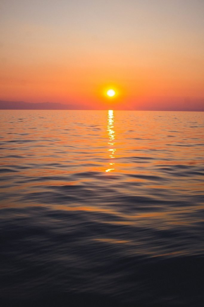 A stunning African sunset over Lake Malawi