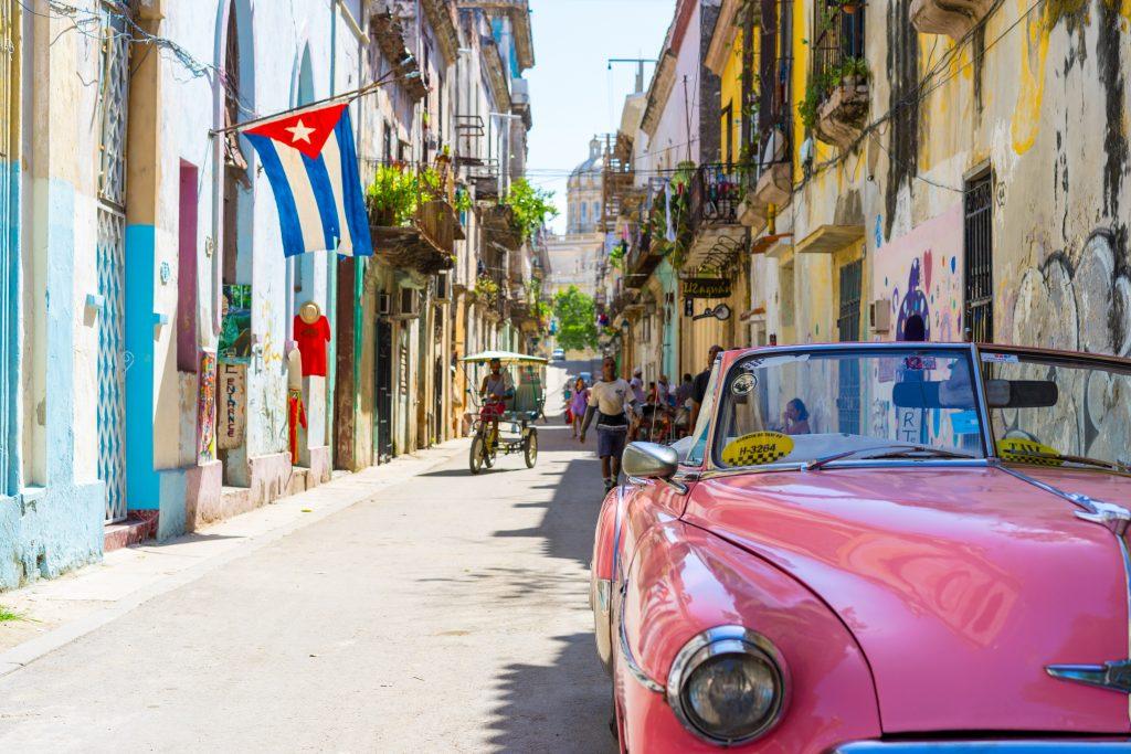 Side streets in Havana Cuba