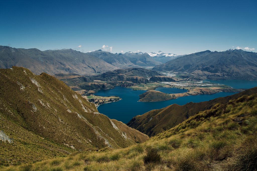 Outdoor adventures in the mountains in New Zealand