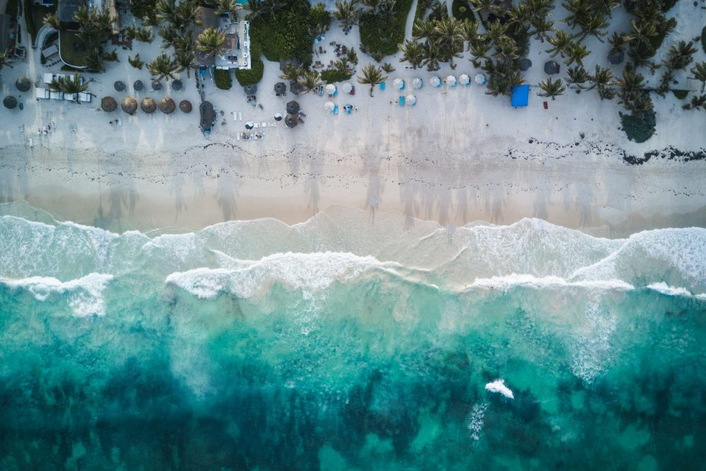 White sand beaches in Tulum