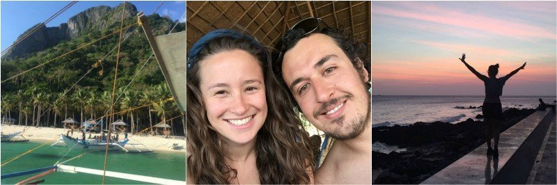 Couple travelling together. Charlotte and Josh. Philippines.
