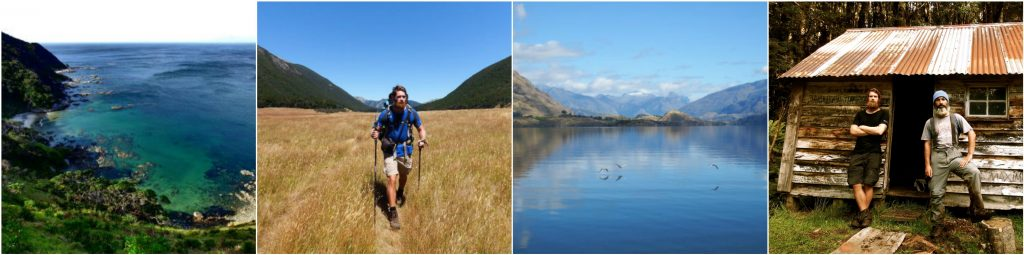 Hiking through New Zealand, stunning lakes, expedition photos