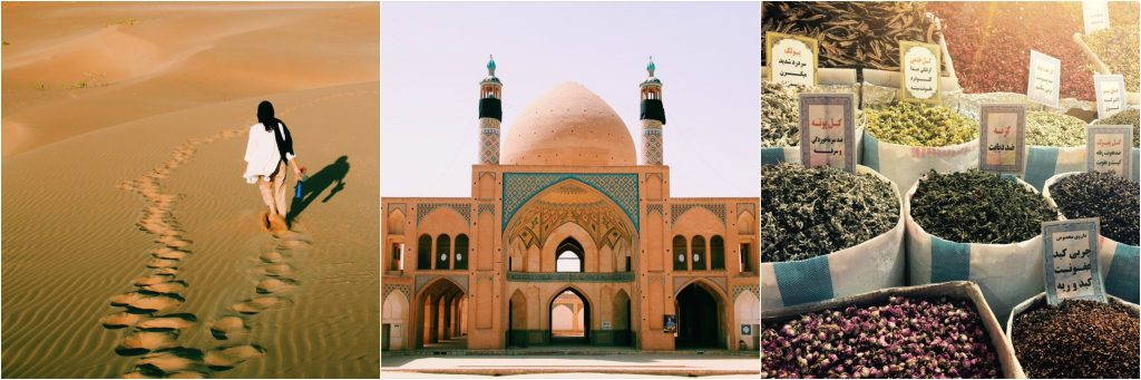 Road trip through Iran, sand dunes, spices