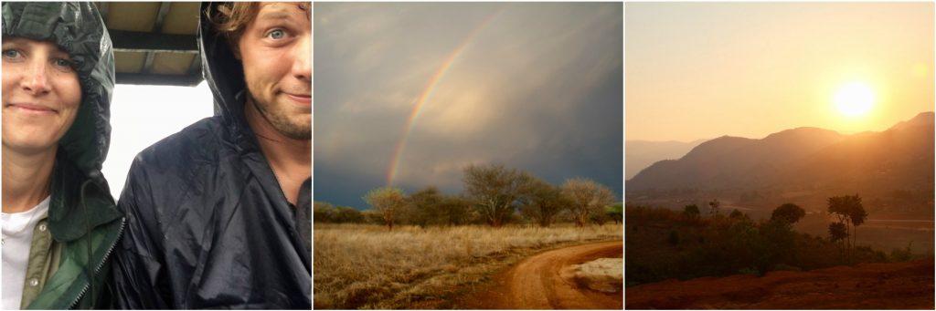 Rain jackets, rainbows and sunsets