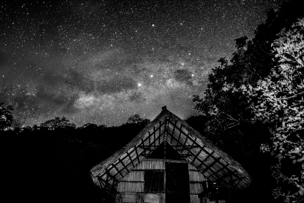 Beautiful starry skies at Kumbali Lake retreat on Lake Malawi