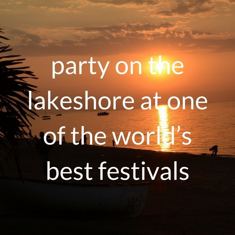 Partying on the lakeshore at the Lake of Stars Festival in Malawi