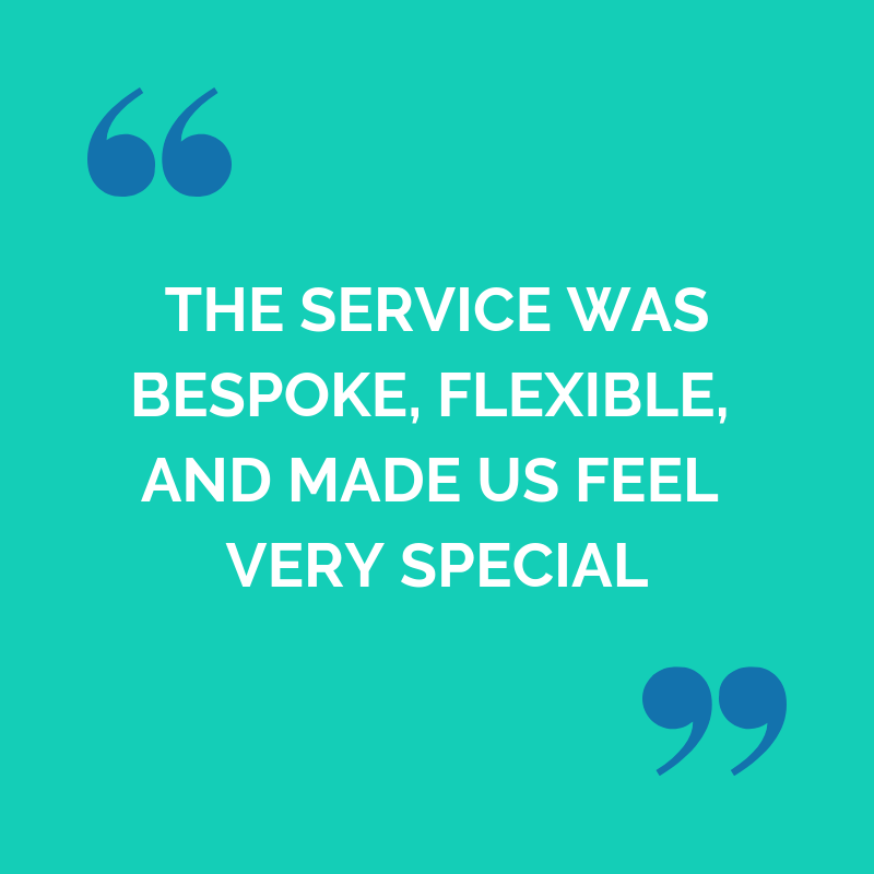 Kavita and Bobby Faraway testimonial: the service was bespoke, flexible and made us feel very special