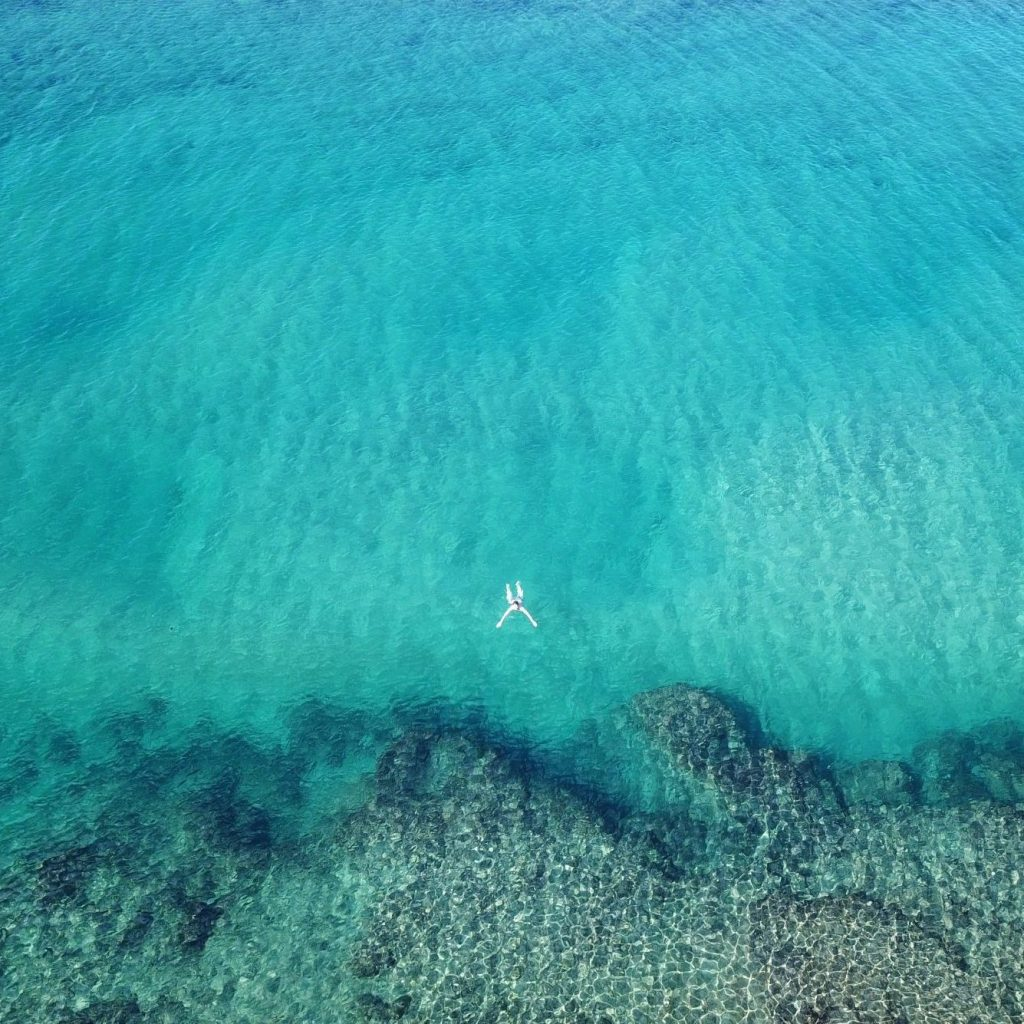 Snorkelling amongst protected reefs at Naara eco lodge in Mozambique