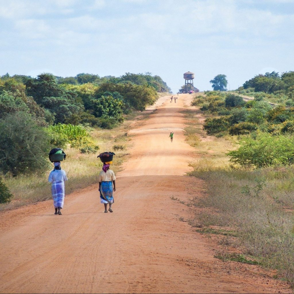 Road in southern Mozambique