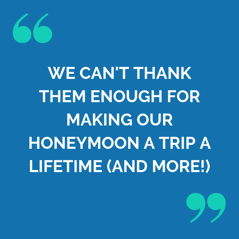 5 star feedback from Ashley and Stewarts Faraway honeymoon in South and Central America