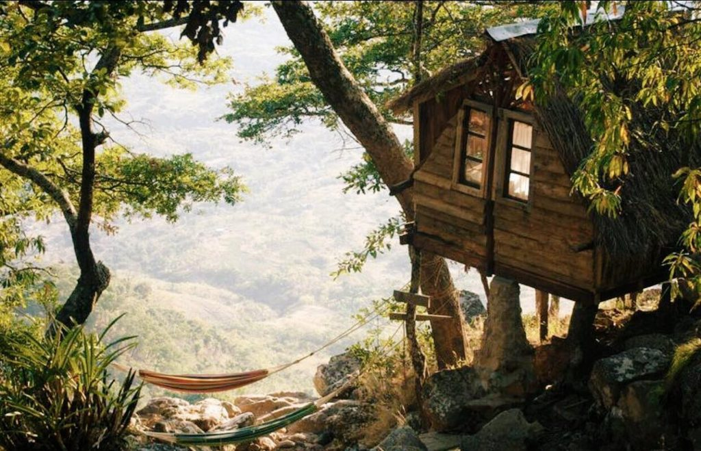 Mushroom farm cabins, Livingstonia in Malawi